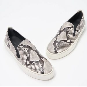 The Flexx Slip-On Leather Sneakers in SnakePrint